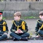 Marching can be tiring work (Photo: Laura Hutton/Photocall Ireland)