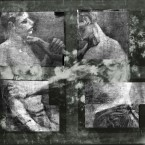 A new high-tech x-ray imaging technique revealed these two wrestlers. The details of the pigments used in the design allowed experts to identify it as a Van Gogh work. (Via Kroeller-Mueller Museum)