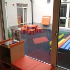 Inside the children's play area 