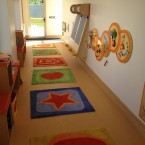 A hallway near the children's area