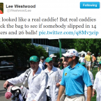 Lee Westwood had some very special guest caddies earlier in the week (Ant and Dec).