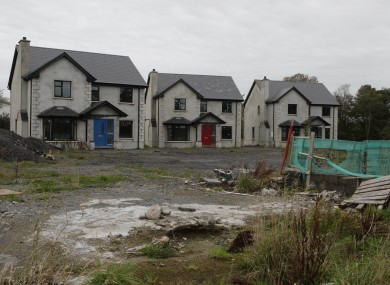 An unfinished housing development in Ballyshannon, Co Donegal