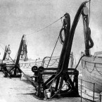 Welin double-acting davits on boat deck of the Titanic.