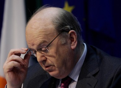 Michael Noonan had openly opposed a system where the financial transaction tax did not apply to all member states.