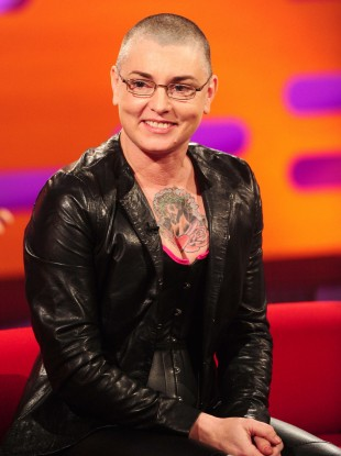 Sinead O'Connor during the filming of the Graham Norton show at the London Studios