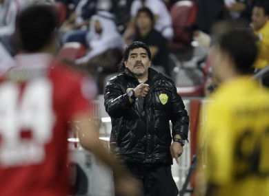 Diego Maradona: did the honourable thing. 