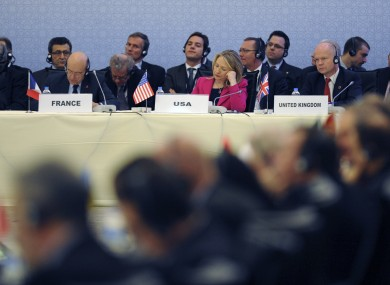 Foreign ministers from dozens of countries gathered in Istanbul today to discuss the Syrian issue.