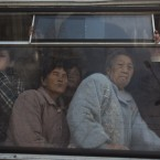 North Korean commuters ride inside a trolly car in Pyongyang, North Korea last Monday. (AP Photo/David Guttenfelder)