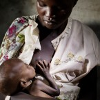 A malnourished child is fed by his mother in Adong,along the Sobat River in the Greater Upper Nile region of northeastern South Sudan, Africa.(PA)