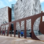 The new Titanic Visitor centre in Belfast, on the eve of the sinking of the doomed liner this weekend 100 years ago.