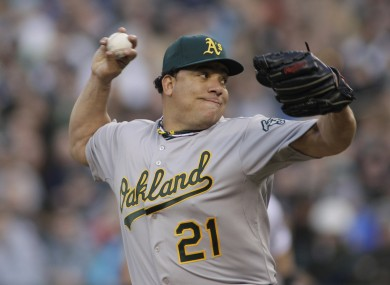 Bartolo Colon was in near perfect form for the Oakland Athletics last night.