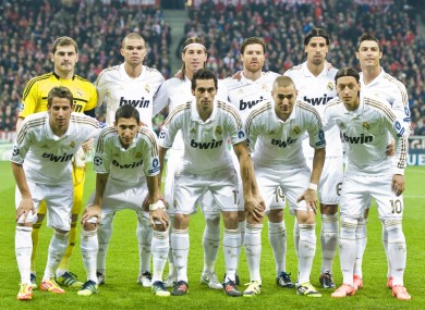 The Real Madrid side that faced Munich on Tuesday. No fatigue on a game versus Barca, says Karanka.