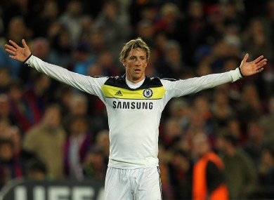 Fernando Torres celebrates the goal that sealed Chelsea's place in the Champions League final.