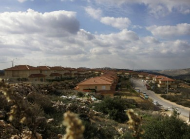 A general view of the unauthorised Bruchin settlement in the West Bank