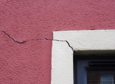 An example of the pyrite damage caused to one property in Dublin.