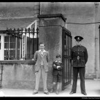 Outside the St John's Road Technical Bureau, 1939.