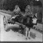 Co Kerry, 1905: A woman wrapped in shawls prepares to travel to her son's funeral. (Library of Congress, Prints & Photographs Division)
