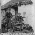 A spinning wheel at an Achill Island home, circa 1903. (Library of Congress, Prints & Photographs Division)