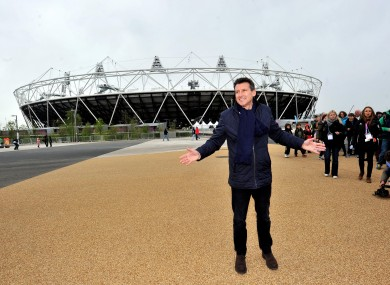 Seb Coe at the London Olympic Stadium.