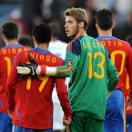 The Manchester United keeper has yet to make his senior debut for Spain. At 21, he's got plenty of time on his side but he's also got three of the continent's top stoppers ahead of him in the pecking order: Iker Casillas, Victor Valdes and Pepe Reina. Looks likely to play in the Olympics instead of the Euros.