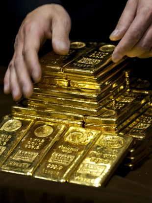 Lovely shiny gold bullion bars