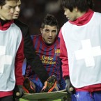 Spain's all-time top scorer has been out of action since December after he broke his tibia while in action for Barcelona at the Club World Cup. Doctors' initial estimates of a six-month recovery period should have seen him fit in time to make Vicente del Bosque's squad, but he conceded last week that he won't be ready.