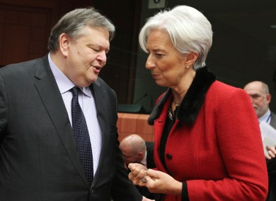 Greek citizens and the French government have criticised remarks by Christine Lagarde, seen here with PASOK leader and former Greek finance minister Evangelos Venizelos.