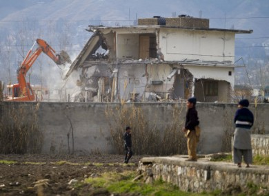 Bin Laden's compound in Abbottabad was demolished by Pakistani officials in February.