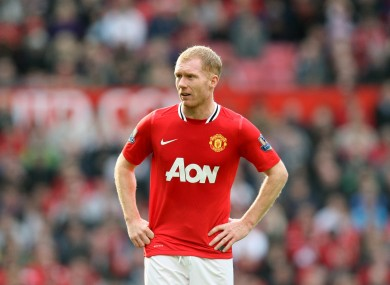 Scholes came out of retirment last January.