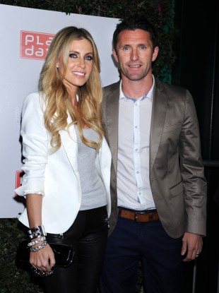 Robbie Keane and Keane out and about in LA recently.