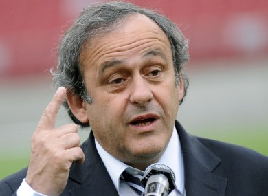 Platini believes Spurs 'should have been third' if they wanted Champions League football.