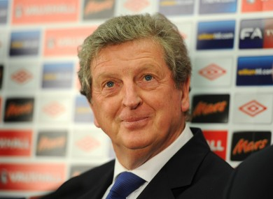 Newly appointed England manager Roy Hodgson faces the press.