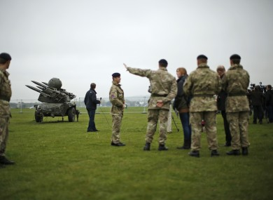 Members of the British military prepare for the Olympics with a training exercise designed to test military procedures.