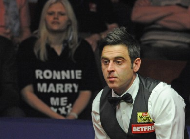 O'Sullivan won six frames in a row today to put himself strongly in contention for a place in the final.
