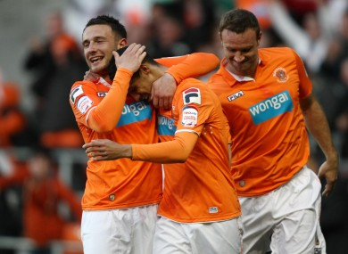 Ince was on target for Blackpool.