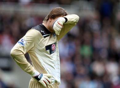 Newcastle goalkeeper can't bear to luck as his team miss another chance to secure Champions League qualification.