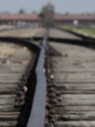 The train tracks at Auschwitz in Poland.
