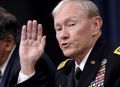 Joint Chiefs Chairman Martin Dempsey said the course was