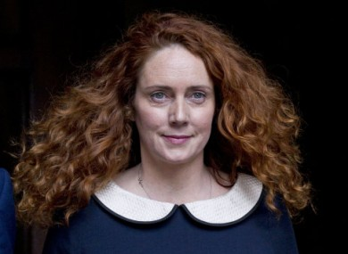 Rebekah Brooks after addressing the Leveson inquiry.