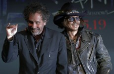 VIDEO: Dark Shadows director Tim Burton falls off stage…