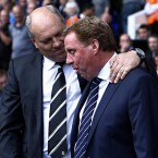 Fulham manager Martin Jol (left) and Tottenham Hotspur manager Harry Redknapp during the Barclays Premier League - Sean Dempsey/PA