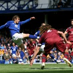 Everton's Nikica Jelavic scores his side's second goal of the match -PA Wire/PA Wire/Press Association Images