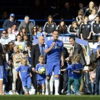 Chelsea's John Terry speaks to the crowd after the Barclays Premier League match at Stamford Bridge, London -  Rebecca Naden/PA Wire/Press Association Images
