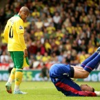 Aston Villa's goalkeeper Shay Given reacts to a shot on goal by Norwich City's Simeon Jackson - Stephen Pond/EMPICS Sport 