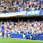 Chelsea fans applaud Didier Drogba after the game during the walkround - Adam Davy/EMPICS Sport 