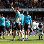 Tottenham hotspurs' Gareth Bale waves to fans after the Barclays Premier League match at White Hart Lane, London - Sean Dempsey/PA Wire/Press Association Images