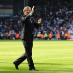 West Bromwich Albion's manager Roy Hodgson says goodbye to the home fans after his last game against Arsenal - Nigel French/EMPICS Sport
