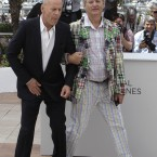 Bruce Willis and Bill Murray. (AP Photo/Lionel Cironneau)