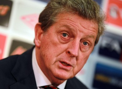 Roy Hodgson faces the press at Wembley yesterday. 