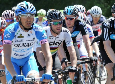 Britain's Mark Cavendish, centre.